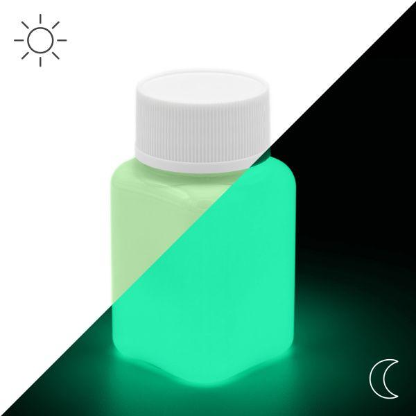 Premium Leuchtfarbe Grün 100 g - Im Dunkeln leuchtende Farbe