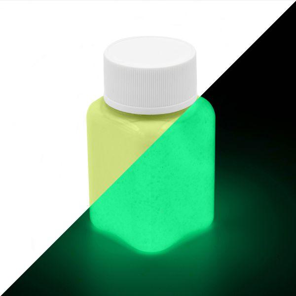Glitzer Leuchtfarbe Gelb-GelbGrün 100 g - Nachleuchtfarbe mit Glitter