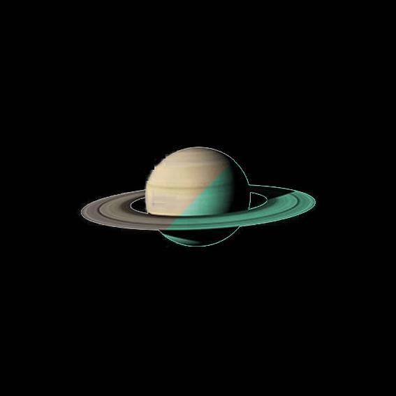 Nachleuchtender Aufkleber Saturn (30cm)