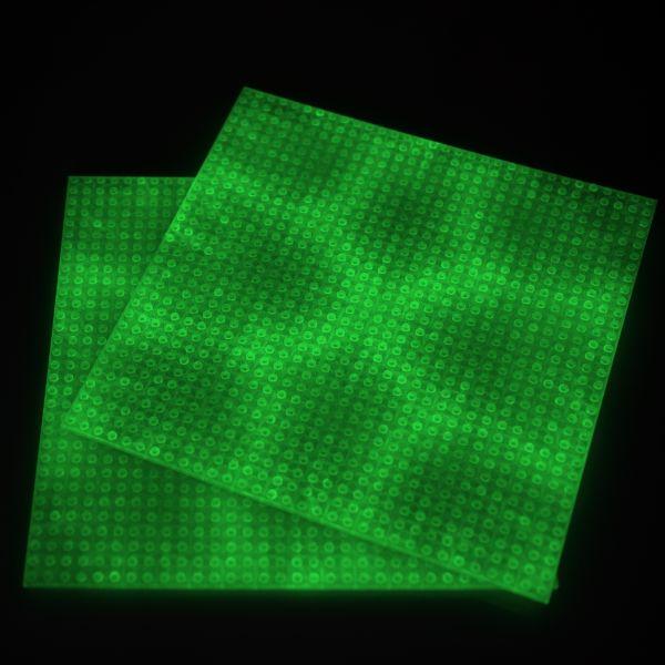 Nachleuchtende Basisplatten 2x grün
