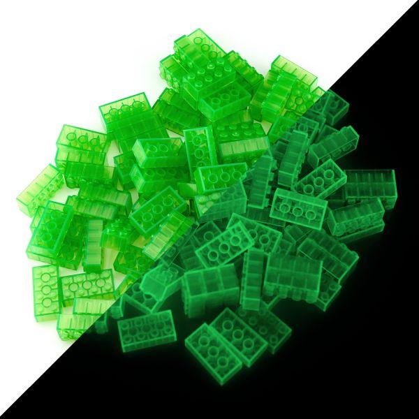 Spielsteine - Grün (100 Stück, Typ 4x2)