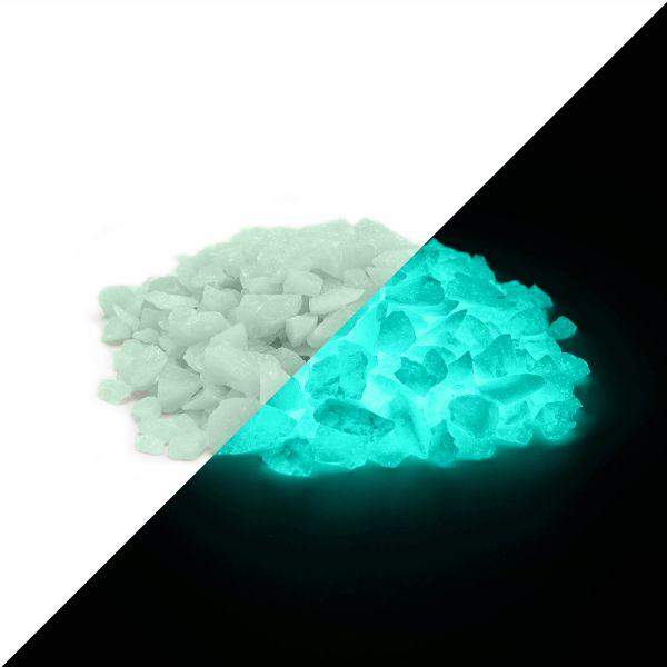 Nachleuchtgranulat GrünBlau 4mm - 100g Leuchtsteinchen