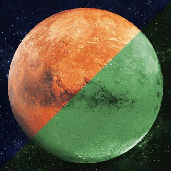 Nachleuchtender Aufkleber Mars (30cm)