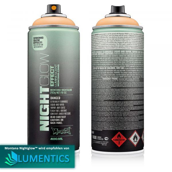 Montana Leuchtspray Orange 400 ml - Im Dunkeln nachleuchtendes Spray