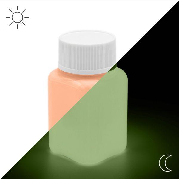 Premium Leuchtfarbe Orange 100 g - Im Dunkeln leuchtende Farbe