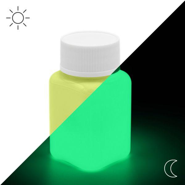 Premium Leuchtfarbe Gelb 100 g - Im Dunkeln leuchtende Farbe