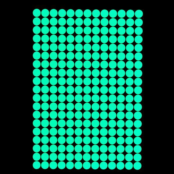 """Premium Leuchtaufkleber - Motiv """"Punkte"""" (257 x 1,5 cm)"""