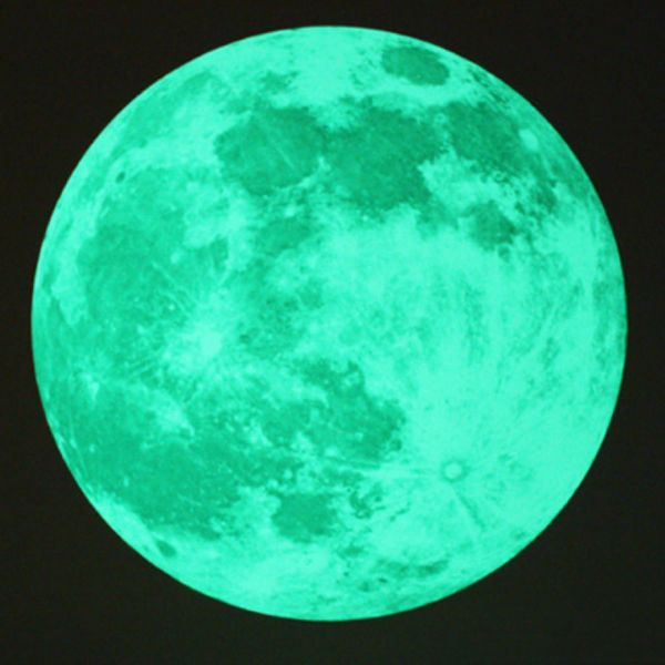 Nachleuchtender Aufkleber Mond (div. Größen)