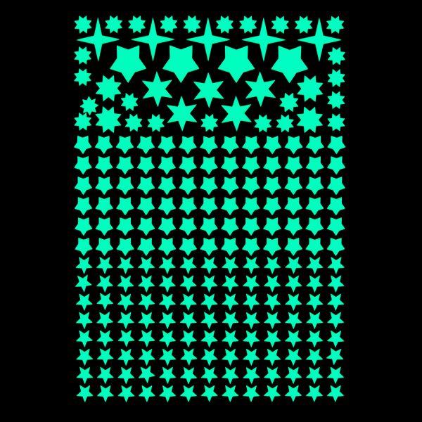 """Premium Leuchtaufkleber - Motiv """"Sterne"""" (225 Stück)"""
