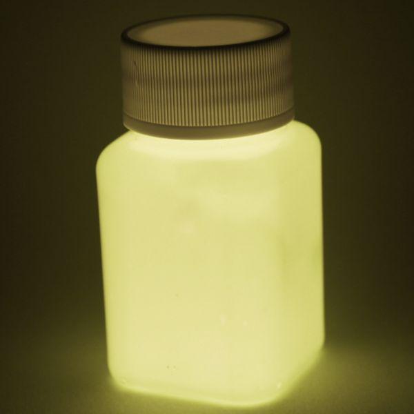 Premium Leuchtfarbe Orange 100ml - Im Dunkeln leuchtende Farbe