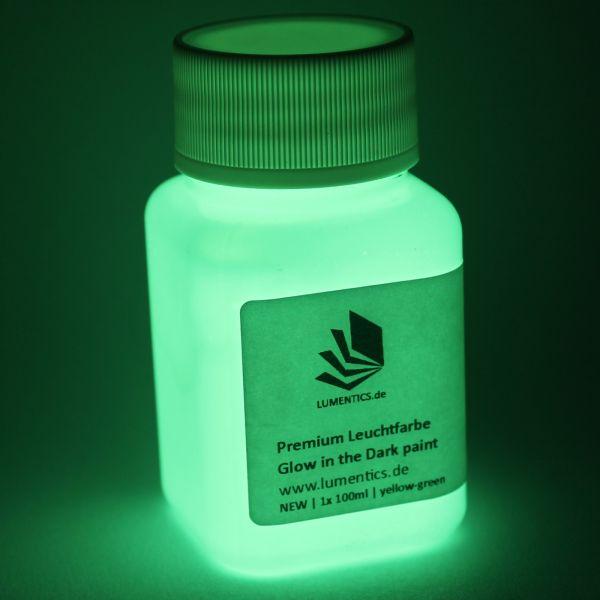 Premium Leuchtfarbe Grün-Gelb 100ml - Im Dunkeln leuchtende Farbe