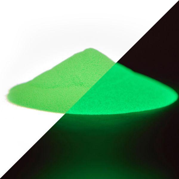 40g Premium Glühpulver Grün-Grün | Im Dunkeln nachleuchtendes Farbpulver