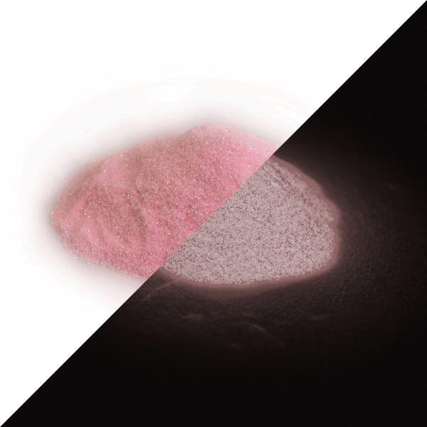 Glitzerpulver Rosa-Rosa 50g - Nachleuchtender Glitter/Flitter