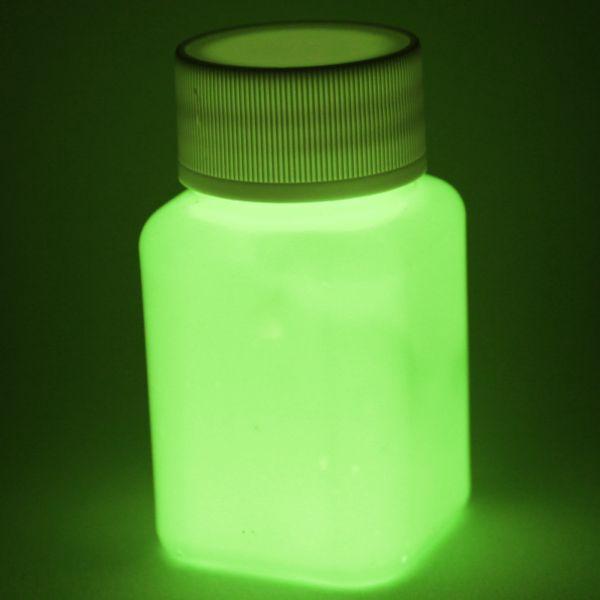 Premium Leuchtfarbe Gelb 100ml - Im Dunkeln leuchtende Farbe