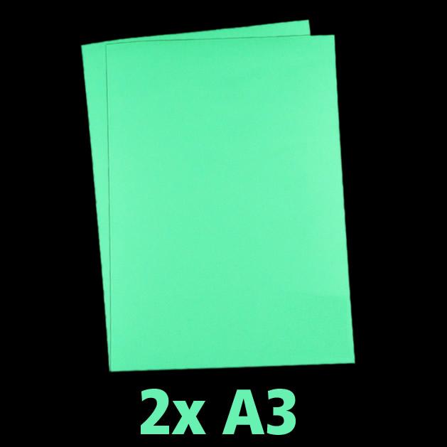 premium leuchtpapier a3 2er pack nachleuchtendes druckerpapier din a3 leuchtfolien und. Black Bedroom Furniture Sets. Home Design Ideas