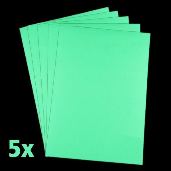 Leuchtpapier für Tintenstrahldrucker (5er Pack, DIN A4)