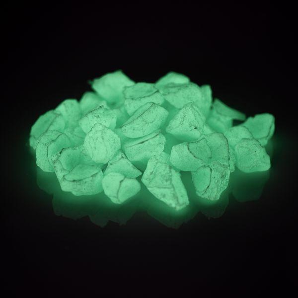 Leuchtsteine BlauGrün 300g - Im Dunkeln nachleuchtende Dekosteine