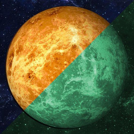 Nachleuchtender Aufkleber Venus (30 cm)