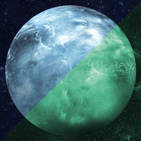 Nachleuchtender Aufkleber Uranus (30 cm)